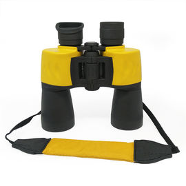 Yellow Waterproof Porro Bak4 Prism 12x50 Birding Binoculars With Neck Strap