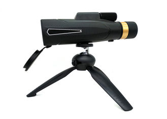 Black Universal Compact High Definition Monocular Telescope With Tripod